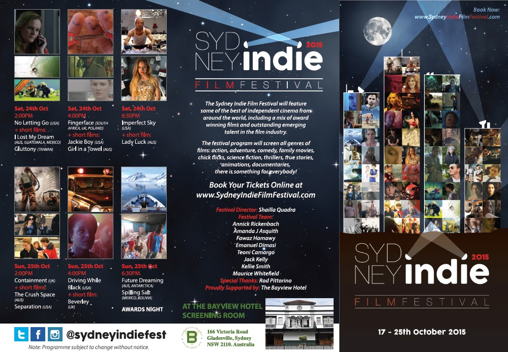 sydney indie film festival programme front cover