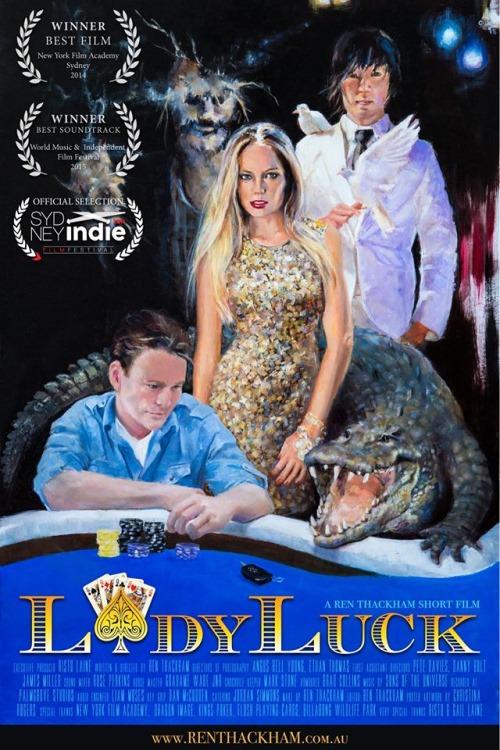 lady luck by ren thackham poster australia