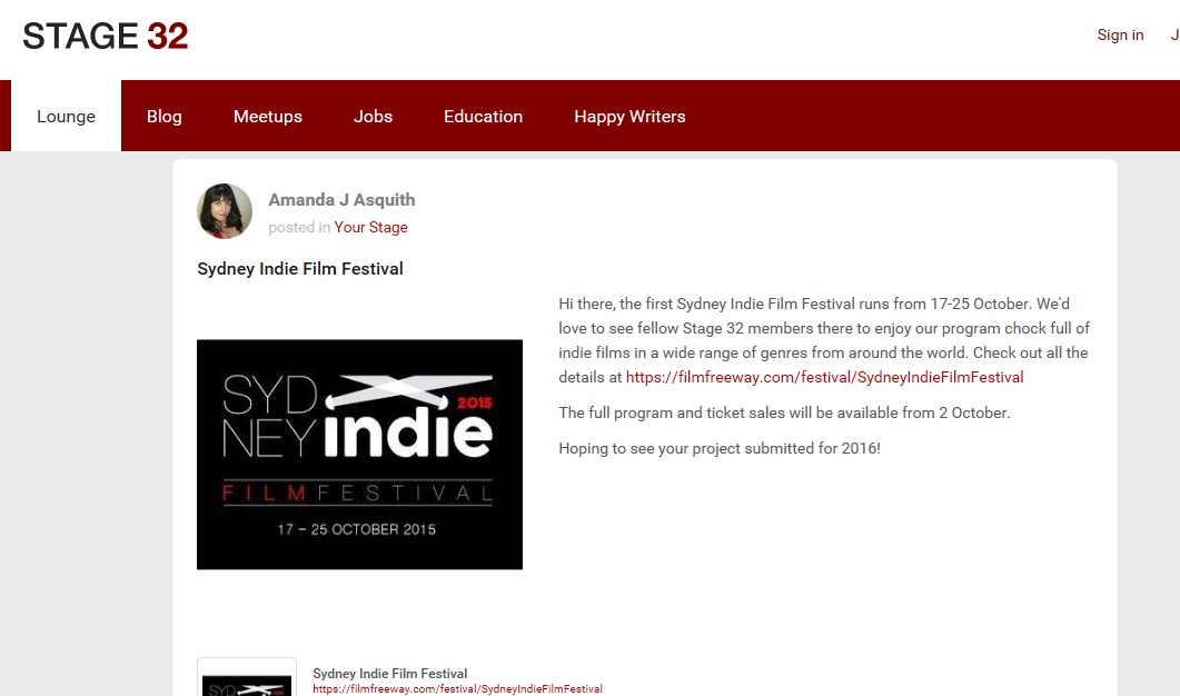 sydney indie at stage32