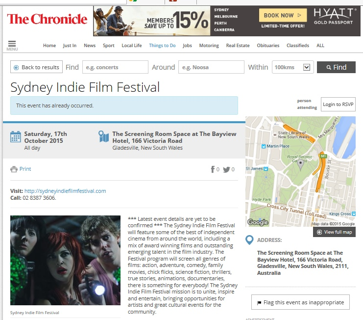 sydney indie at the cronicle