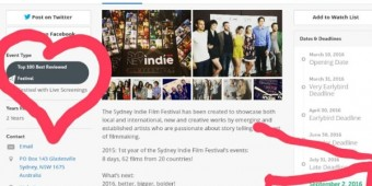 sydney indie film festival finall calls 2016