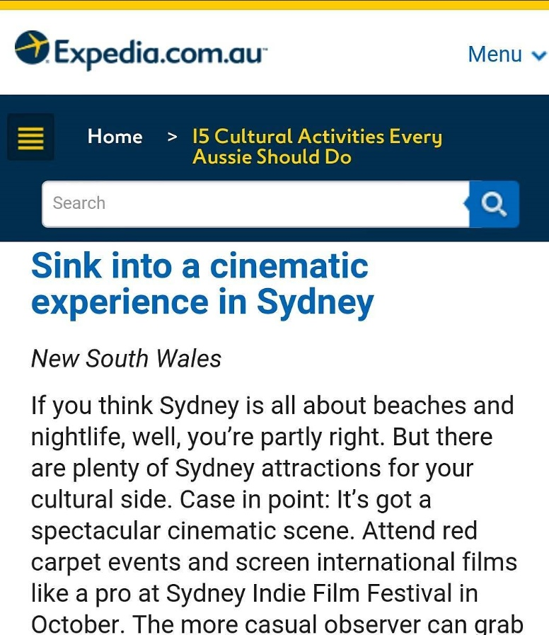 sydney indie film festival at expedia 2017