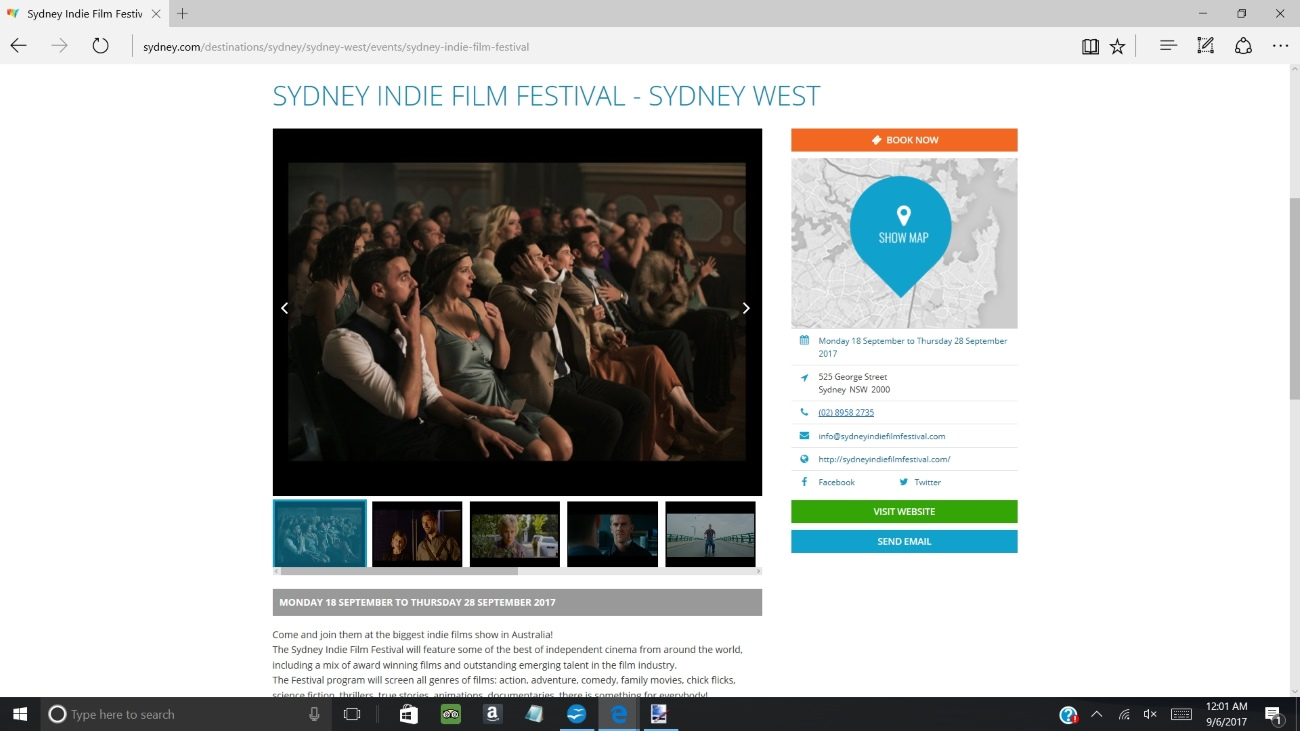 sydney indie at sydney.com 2017