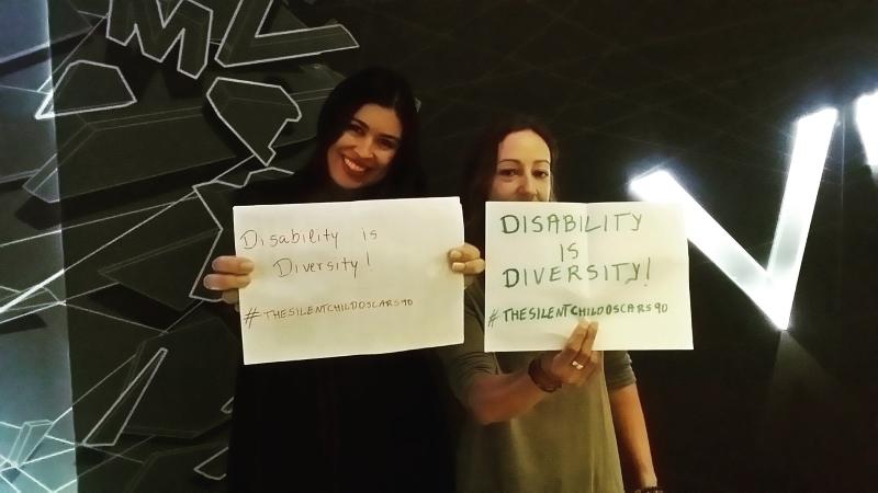 Shailla & Dene supporting the silent child